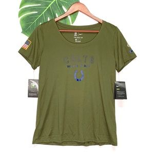 New Nike NFL Colts Salute To Service T-Shirt Top